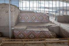 Temple du Sun (Huaca del Sol) Grand temple historique d'adobe de la culture de Moche images libres de droits