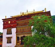 temple du Thibet Photos stock