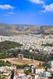 Temple du Zeus olympique à Athènes, Grèce Photographie stock libre de droits