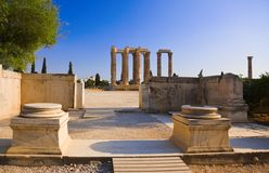 Temple du Zeus olympique à Athènes, Grèce Images libres de droits