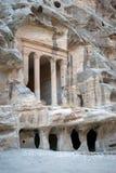 Temple Dushara at Little Petra, Jordan Royalty Free Stock Image