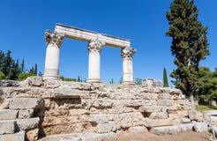 Temple E, Ancient Corinth, Greece Royalty Free Stock Photos