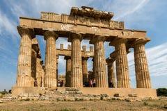 Temple E dans Selinunte photo stock