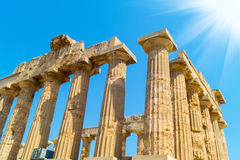 Temple E at Selinunte in Sicily is a greek temple of the doric Royalty Free Stock Photography