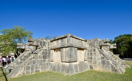 Temple of the Eagles and Jaguars. This is a picture of the Temple of the Eagles and Jaguars located in the Chichen Itza Archeological Zone located in Chichen Stock Photography