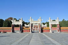 Temple of Earth. This was the place in Beijing to worship the God of Earth Stock Photography