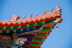 Temple eaves Royalty Free Stock Image