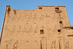 Temple of Edfu in Egypt Stock Image