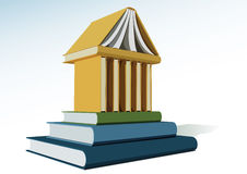 Temple of education. The depiction of an allegoric temple of education Royalty Free Stock Image