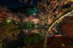 Temple Eikando at night Stock Image