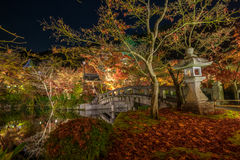 Temple Eikando at night Royalty Free Stock Photos