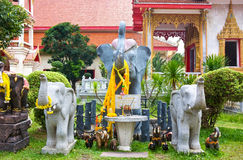 Temple of elephants Royalty Free Stock Photography