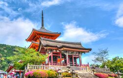 Temple on Elevated Area Under Blue Sky and White Clouds during Daytime Stock Photos