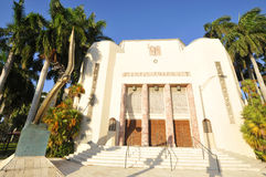 Temple Emanu-El is a synagogue. MIAMI SOUTH BEACH FLORIDA USA 10 29 12: Temple Emanu-El is a synagogue located in the South Beach district of Miami Beach royalty free stock images