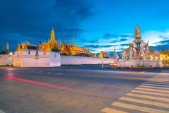 Temple of the Emeral Buddha. In Thai name call Wat Pra Kaew or Wat Pha Siratana Satsadaram Royalty Free Stock Photo