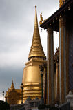 Temple of the Emerald Buddha. Thai Architecture at the Temple of the Emerald Buddha, Bangkok, Thailand Royalty Free Stock Photography