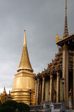 Temple of the Emerald Buddha. Thai Architecture at the Temple of the Emerald Buddha, Bangkok, Thailand Stock Photography