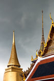 Temple of the Emerald Buddha. Thai Architecture at the Temple of the Emerald Buddha, Bangkok, Thailand Stock Images
