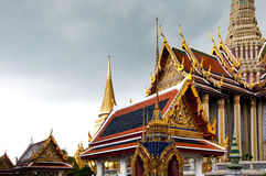 Temple of the Emerald Buddha. Thai Architecture at the Temple of the Emerald Buddha, Bangkok, Thailand Stock Photo