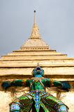 Temple of the Emerald Buddha. Golden Chedi at the Temple of the Emerald Buddha, Bangkok, Thailand Stock Images