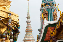 Temple of the Emerald Buddha. Thai Architecture at the Temple of the Emerald Buddha, Bangkok, Thailand Stock Image