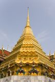 Temple of the Emerald Buddha. Golden stupa on Wat Phra Kaew or Temple of the Emerald Buddha, Thailand Stock Photo