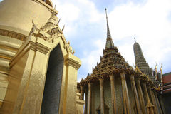 Temple of the Emerald Buddha, Bangkok. Wat Phra Kaew Temple inside the Grand Palace grounds, Bangkok, Thailand stock image