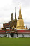 Temple of the Emerald Buddha, Bangkok. Wat Phra Kaew, viewed from within the grounds of the Grand Palace, Bangkok, Thailand stock photo