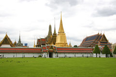 Temple of the Emerald Buddha, Bangkok. Wat Phra Kaew, viewed from within the grounds of the Grand Palace, Bangkok, Thailand Royalty Free Stock Image