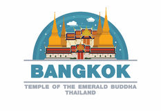 Temple of the emerald Buddha in Bangkok,Thailand Logo symbol Royalty Free Stock Image