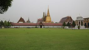 Temple of the Emerald Buddha in Bangkok, Thailand stock video