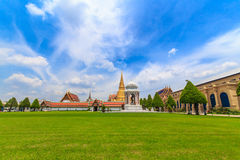 Temple of the Emerald Buddha in daytime. Temple of the Emerald Buddha Or commonly known as Wat Phra Kaew, the Temple of King Rama the Great skyline Majesties stock photos