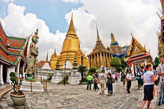 Temple of the Emerald Buddha and the Grand Palace, bangkok Stock Images