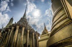 Temple of the Emerald Buddha. At Grand Royal Palace in Bangkok, Thailand Royalty Free Stock Images