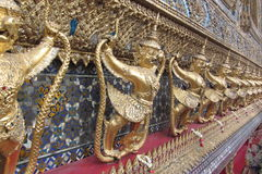Temple of the Emerald Buddha. This is land mark of thailand. Many architecture was very beautiful Stock Image