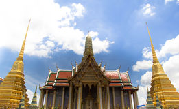 Temple of the Emerald Buddha. The revolutionary architecture in the Temple of the Emerald Buddha in thailand Stock Photography