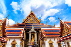 Temple of the Emerald Buddha Temple Boes Rd. The most famous of the city landmark that was built in 1782 inside the palace complex with impressive buildings Royalty Free Stock Photo