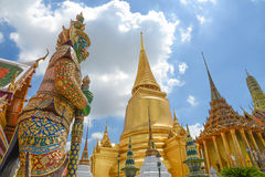 The temple of the Emerald Buddha Royalty Free Stock Images