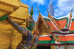 Temple of The Emerald Buddha or Wat Phra Kaew, Grand Palace, Bangkok, Thailand Stock Photos