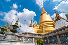 Temple of Emerald Buddha (Wat Phra Kaew) in Grand Royal Palace. Stock Photography