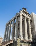 Temple Emperor Antonius and Wife Faustina with Corinthian Columns at Roman Forum, Rome, Italy Royalty Free Stock Photos