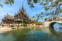 Temple en bois Photo stock