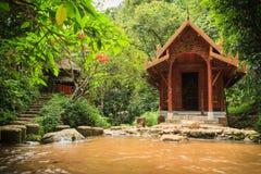 Temple en bois Photos stock