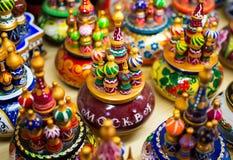 Temple en bois de souvenirs de Vasily Blazhenny image stock