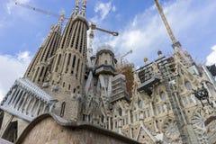 Temple en construction de Sagrada Familia, Barcelone des Image stock