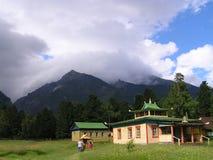Temple en montagne image libre de droits