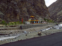 Temple en montagnes photographie stock