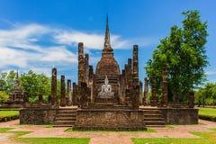 Temple en parc historique Thaïlande de Sukhothai Image libre de droits