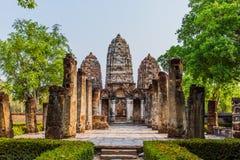 Temple en parc historique Thaïlande de Sukhothai Photographie stock