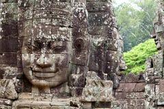Temple en pierre de Bayon de découpages de visage Image libre de droits
